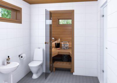 ES/PS mallien sauna, lämpöhaapa.